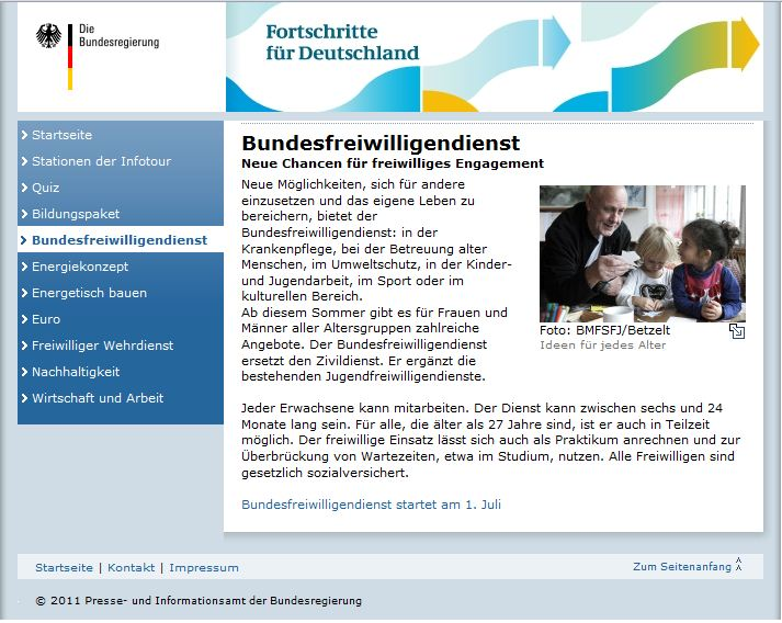 Bundesfreiwilligendienst